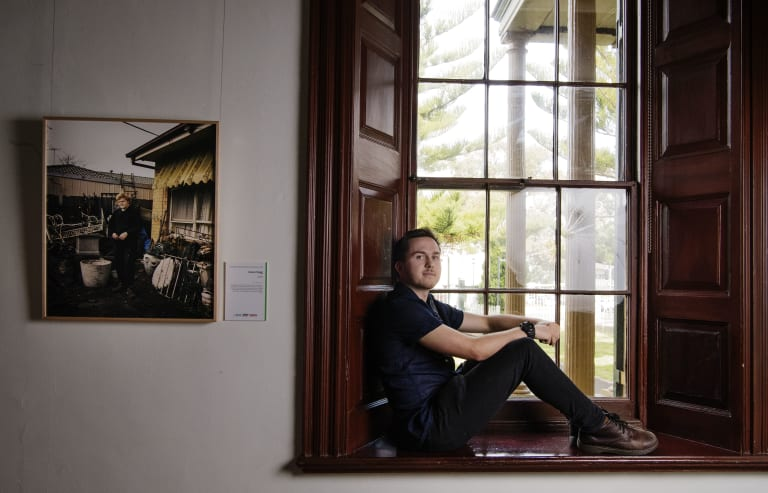James Bugg won the $50,000 Moran Contemporary Photographic Prize for Zach, a portrait of a young man from a disadvantaged suburb in Melbourne.