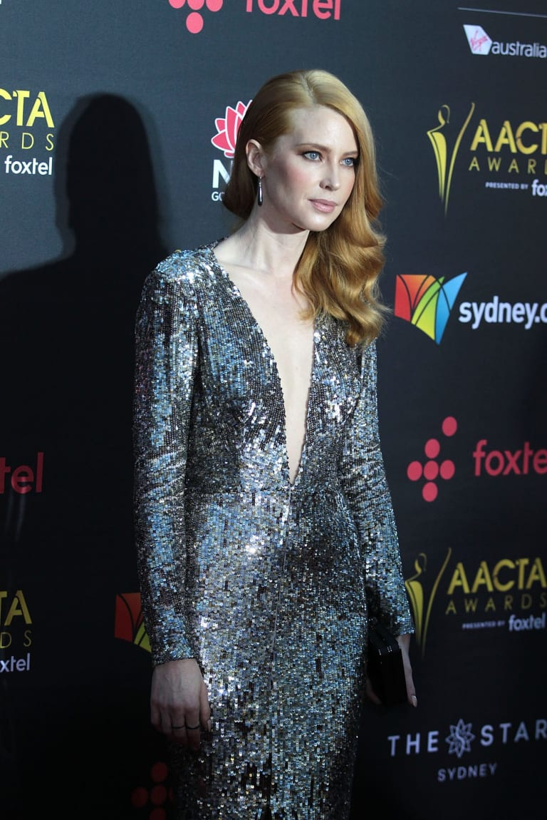 Emma Booth arrives at the AACTA (Australian Academy of Cinema and Television Arts) Awards at The Star, Sydney.