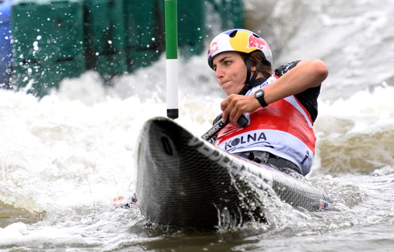 Jessica Fox is the most successful paddler in history after winning two world crowns in Rio de Janeiro.