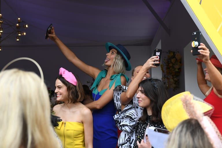 Look at me, look at me. Selfies are ruining the Melbourne Cup.