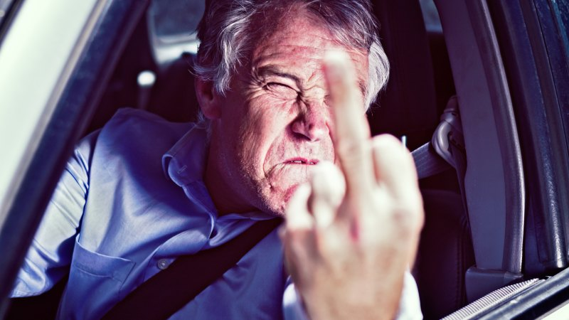 dealing with aggressive drivers behind you
