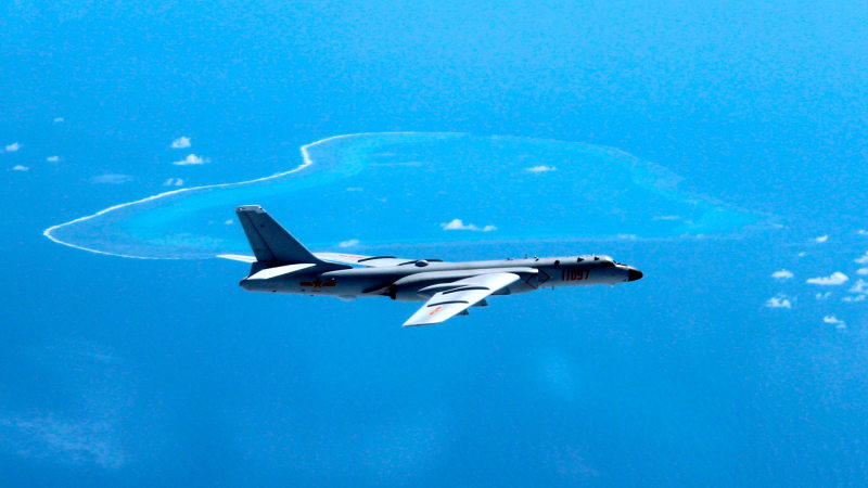 China lands bomber on South China Sea island for the first time