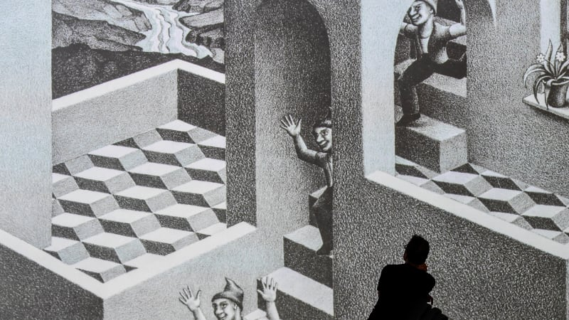 NGV summer blockbuster gives Escher optical illusions a Japanese twist