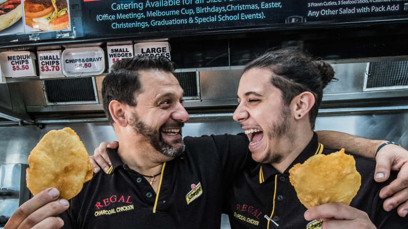 Search for Canberra's best scallop: Regal Charcoal Chicken, Charnwood