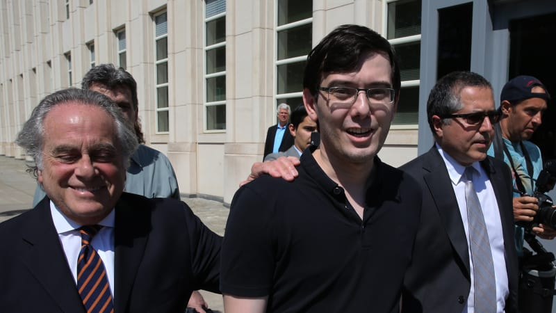 'Stupid mistakes': Crying Pharma Bro sentenced to seven years in jail