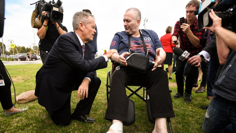 Shorten confronted by cancer sufferer