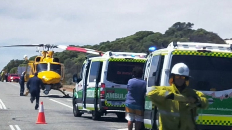 Woman seriously injured on Perth's Indian Ocean Drive
