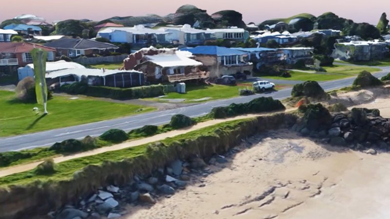 3D modelling of coastal changes