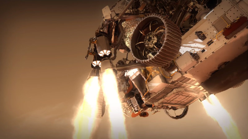 NASA illustrates hazardous Mars rover landing in video