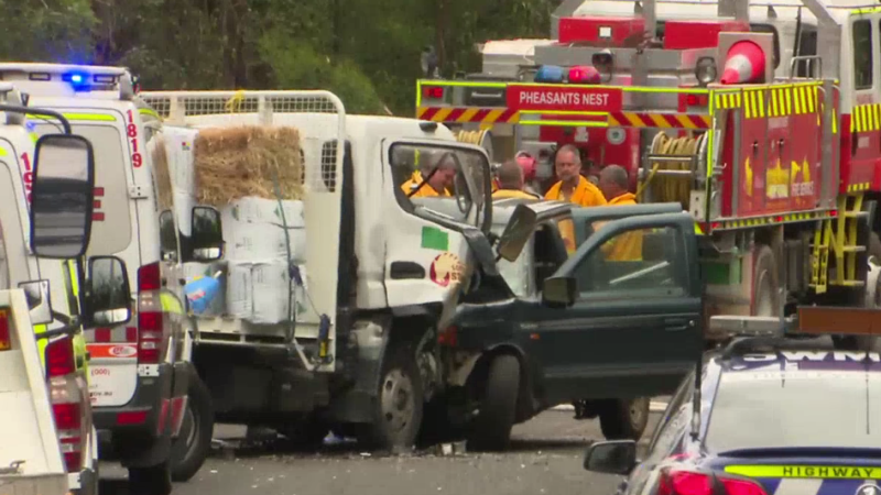 Man killed in head-on crash with truck south-west of Sydney