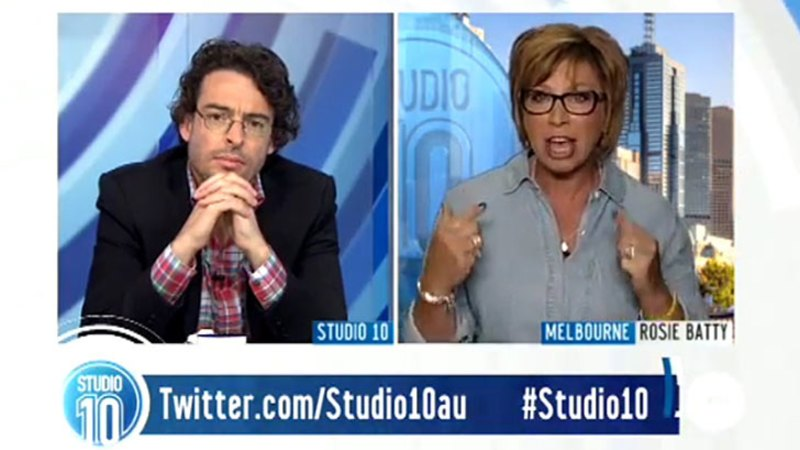 Rosie Batty blasts Joe Hildebrand on live TV