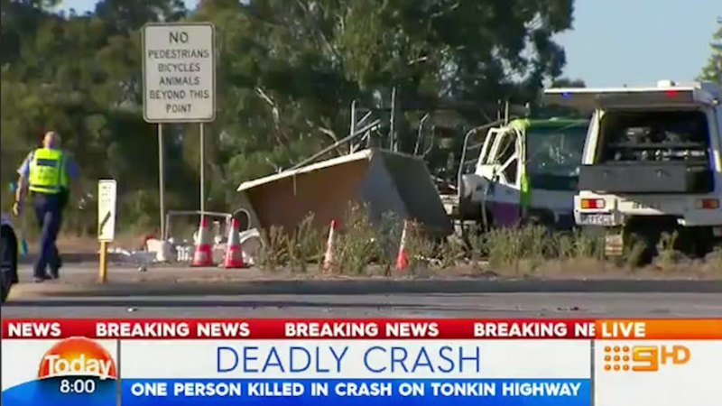 One person killed after crash on Tonkin Highway