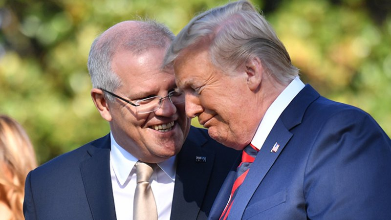 Trump pulls out all the stops for his friend ScoMo