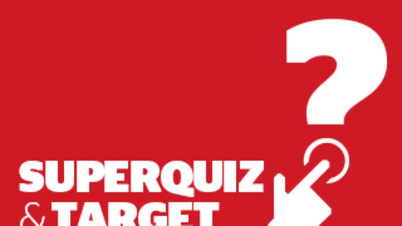 Target and superquiz, Tuesday, November 19