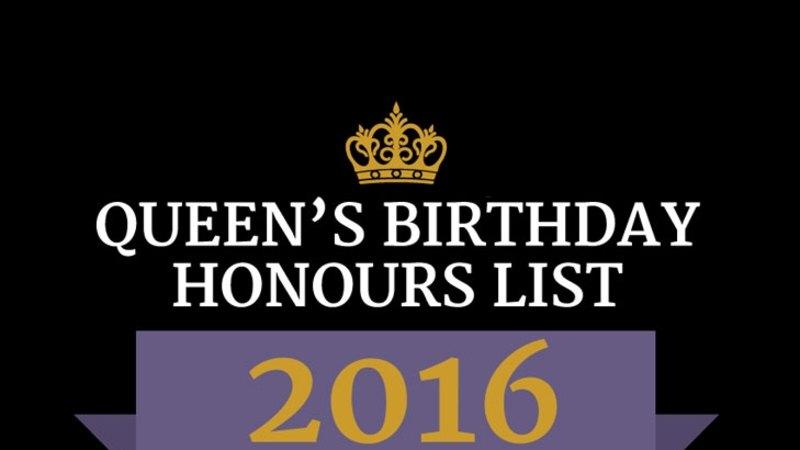 Queen's Birthday Honours 2016: the full list