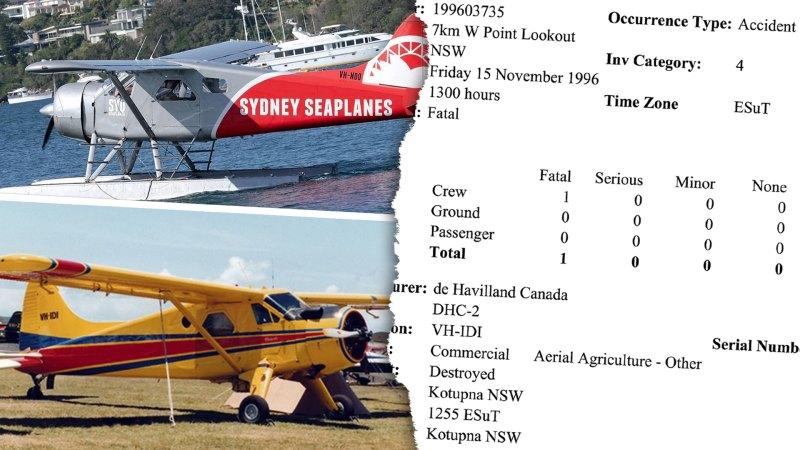 Seaplane 'destroyed', rebuilt following previous fatal crash