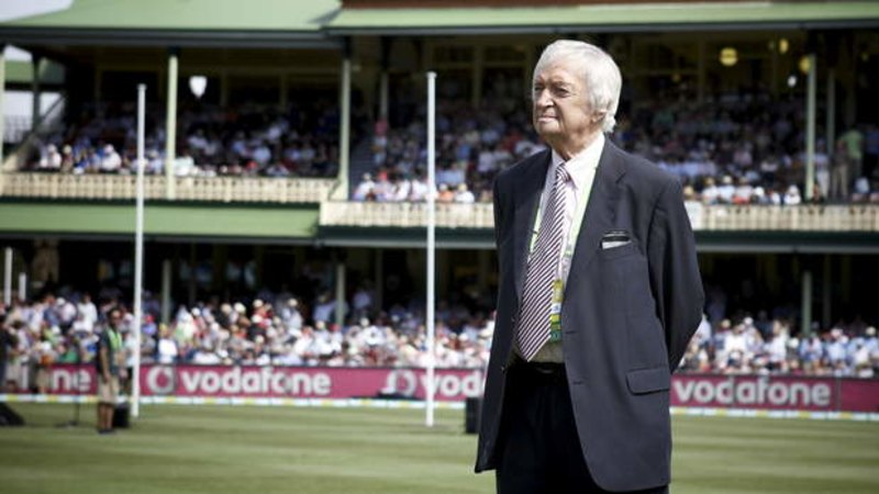 Richie Benaud may call the cricket from his lounge room