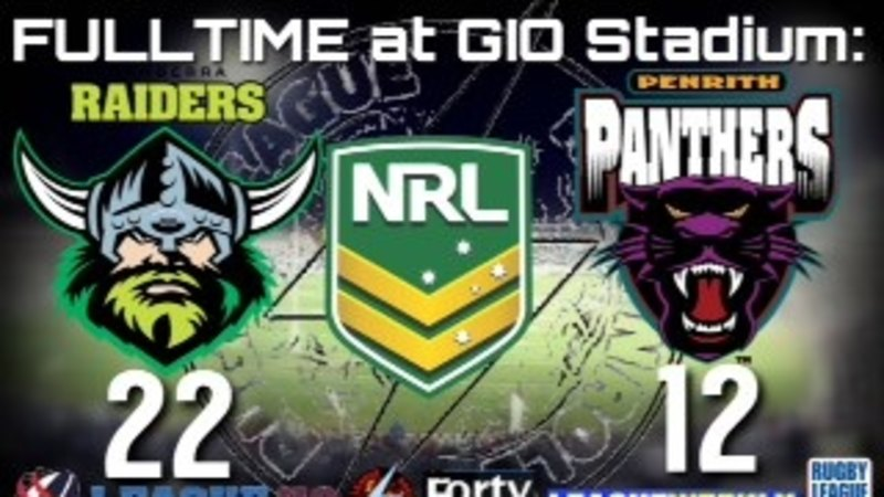 Live NRL scores: Canberra Raiders v Penrith Panthers, Finals Week Two