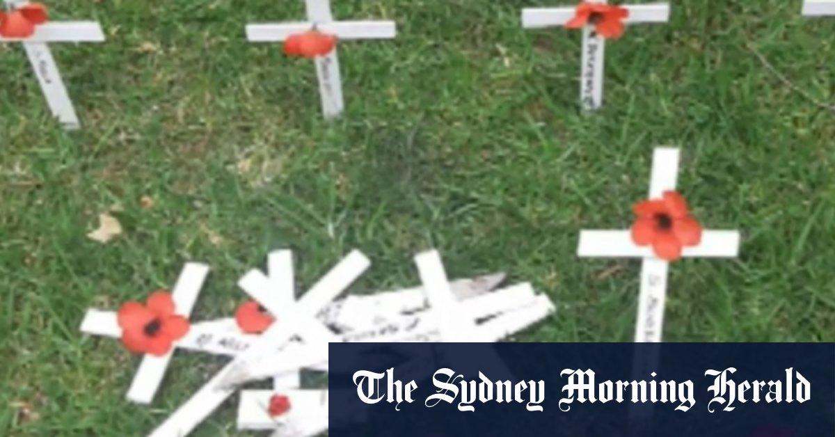 Video: Vandals trash memorial to fallen soldiers