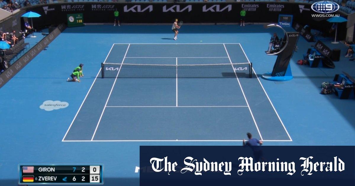Video: Australian Open: Alexander Zverev v Marcos Giron