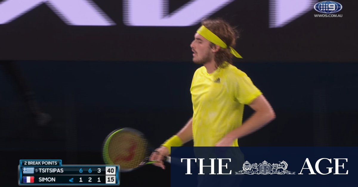 Video: Australian Open: Stefanos Tsitsipas v Gilles Simon