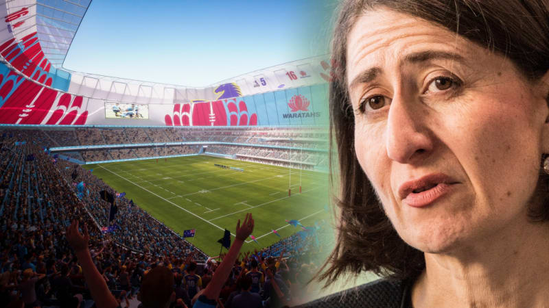Image result for gladys berejiklian football stadium debacle