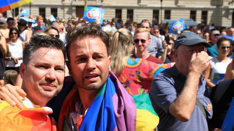 'Australia is backing us': Brisbane celebrates marriage equality win