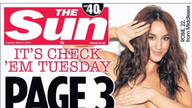 Has The Sun Newspaper Quietly Dropped Page 3 Girls