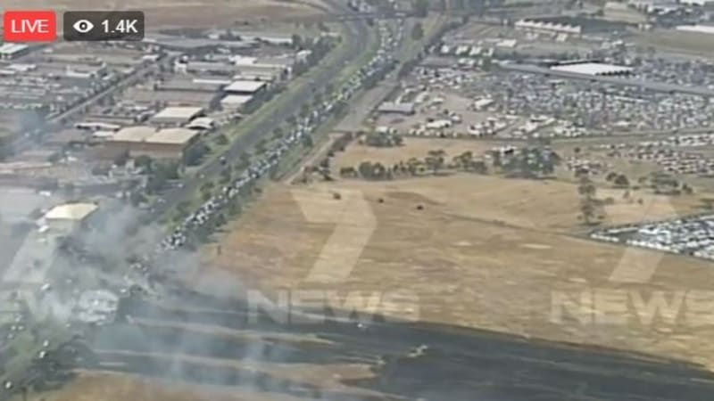 traffic congestion eases on princes freeway after altona north grassfire. Black Bedroom Furniture Sets. Home Design Ideas