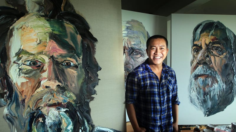 Anh Do Paints Big Lives For His First Solo Exhibition At