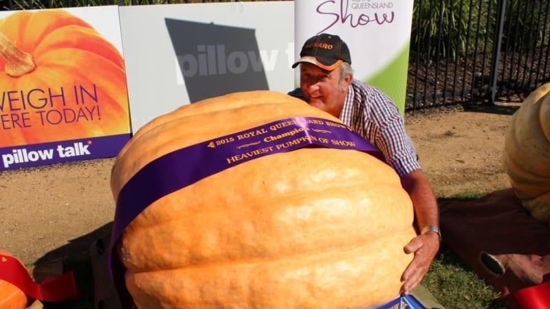 Farmer steals the EKKA show with 261kg pumpkin