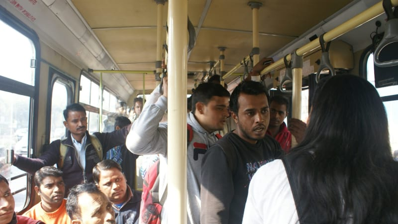 Guerrilla Theatre Skit Shows Groping And Harassment Still Tolerated On Indias Buses