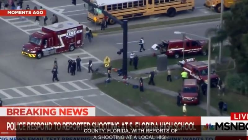 Florida sheriff's office responding to reports of active shooter at a high school