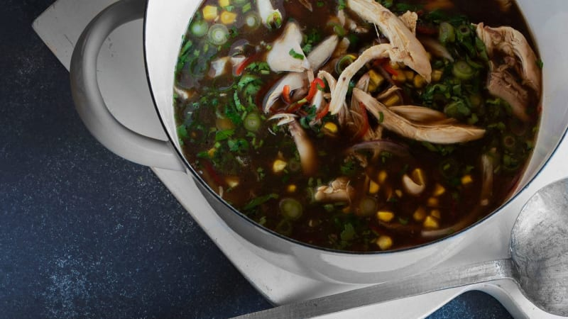 Coconut and lemongrass chicken soup