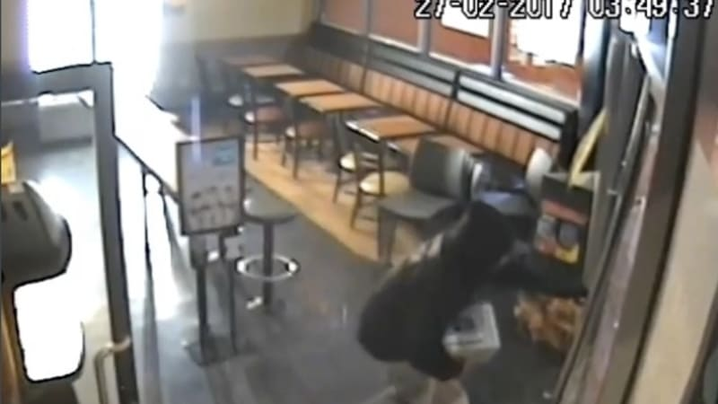 police release footage of hooded burglar who stole safe from altona restaurant. Black Bedroom Furniture Sets. Home Design Ideas