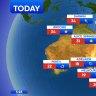 National weather forecast for Wednesday, September 30