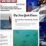 Shark bite debate stirs up US media