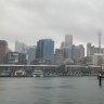 Heavy rain falls across Sydney