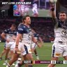 Kyle Feldt crossed for a try in his 150th NRL game and pretended he had notched a century for Australia.