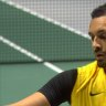 Kyrgios in cruise control against Belgium