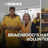 Hardworking volunteers at Braidwood fire station
