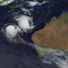 Two cyclones off WA coast could be joined by a third