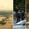 Flood warnings remain in Victoria after flash flooding, high winds