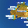 National weather forecast for Monday, September 21