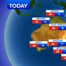 National weather forecast for Friday , October 23