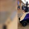 Robots patrol public areas in Singapore