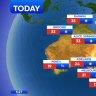 National weather forecast for Thursday, September 10