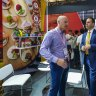 China: Steven Ciobo came to watch footy