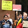 Activists swamp Sunrise windows to protest Aboriginal adoption segment