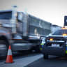 Trucks photographed whizzing by road crews spark call for slow-down laws